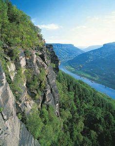 Labe river in North Bohemia, Czechia
