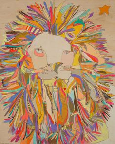Give the gift of art with our #GreenboxArt Lion Star Canvas Wall Art by Jennifer Mercede.