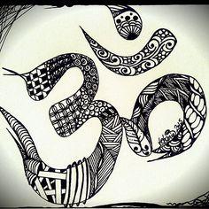"""SiebenPfeile's Zen-ART """"tangle-OM"""""""