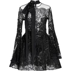 Elie Saab Bead Embroidered Short Dress ($7,700) ❤ liked on Polyvore featuring dresses, black, short skirts, embroidered dress, a line mini dress, short beaded dress and short dresses