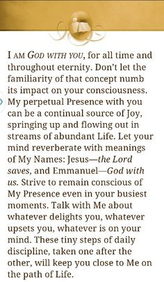 Jesus Calling ~ God is with you ~ Sarah Young Devotional