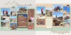 Scraps of Shirlee: Double 2-page scrapbook layout