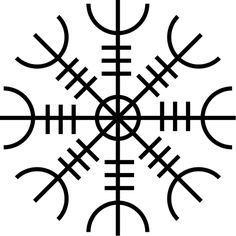 """This is going to be my next tattoo... Aegishjalmur – The Helm of Awe also called Ægishjálmur is an ancient protective talisman of the Norse —but the true nature of its magic has many interpretations. In icelandic sagas it can be found to confer power and dominance in conflict. To instill fear in one's enemies and to conquer fear in one's own mind. And while its literal translation is """"Terror Helm"""""""