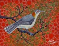 "Artist: 		KROCETTE    Title: 		""Western Thornbill Honeyeater""    Medium:	Acrylic on Canvas    Price: 		$590    Size: 	355 x 280mm    Signed: 		KROCETTE 2012	  Kidogo Art Institute - Gallery Aboriginal Artists, Australian Artists, Home Art, Westerns, Abstract, Canvas, Medium, Gallery, Painting"