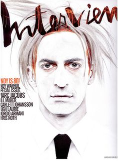 Marc Jacobs as Andy Warhol, Interview Magazine June Cool Magazine, Magazine Art, Magazine Design, Magazine Covers, Andy Warhol, Marc Jacobs, Fabien Baron, Interview, Tattoo Magazines