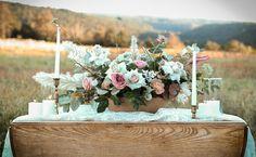 Large Scale Arrangement Outdoor Wedding
