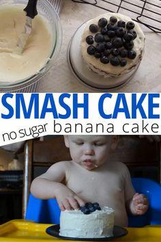 Smash Cake Recipes, Smash Recipe, Baby Food Recipes, Healthy Smash Cakes, Recipe Fo, Healthy Cake Recipes, Baby First Birthday Cake, One Year Birthday Cake, 1st Birthday Foods