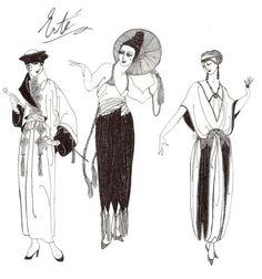 Erte fashion designs by *janey-jane on deviantART: