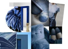 Stylink colour trends 2017 - 'Blues' by Monique Tieleman #color #trends #colortrends #moodboard