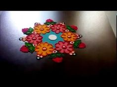 Diwali special easy border rangoli designs | Innovative rangoli designs by Poonam Borkar - YouTube