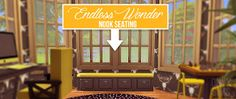 Endless Wonder Nook Seating (Maxis Match Conversion - 104 Swatches in total) - created by Onyx Sims