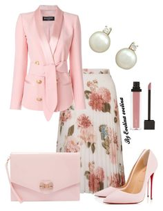 """EVE"" by evelina-er on Polyvore featuring Miss Selfridge, Balmain, Christian Louboutin and Ted Baker"