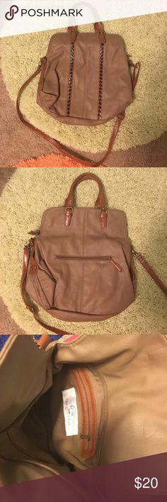 Big Buddha purse in brown! Cute Big Buddha purse   Never carried   Has outside pocket and one pocket inside along with two pouches fir phone, etc Big Buddha Bags Shoulder Bags