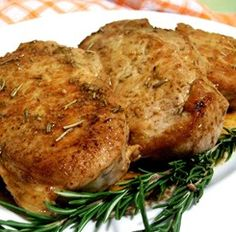 From:http://allrecipes.com/Recipe/Modenese-Pork-Chops/ Everyone who has this loves it! It's quick and surprisingly simple. Garlic, rosemary, and white wine flavor the pork. The odor is amazing. Try steaming fresh broccoli, then frying it inside the pan juices for a great side dish.IngredientsOriginal recipe makes 4 servings 4 tablespoons butter 4 (1 inch thick) pork chops 1/2 cup …Continue reading...