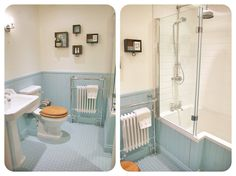 Traditional bathroom with cream painted panelling - Google Search