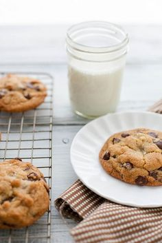 Chocolate Chip Cookies with Nutella + Sea Salt