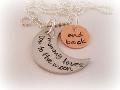 Mommy Loves You To The Moon And Back  Hand by DanielleJoyDesigns, $27.00