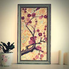 "Original Landscape Painting, ""Sakura"" Acrylic Painting, Landscape Art, Original Artwork, Wall Art Canvas, 30cm(w) x 60cm(h) by AngelinaRunkovaArt on Etsy"