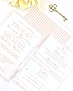 Check out a printed wedding invitation sample of our Brooke collection! The blush and gold look beautiful when printed and can be matched with a patterned envelope liner. Each week we'll post new designs, colors, and invitation extras!  Custom Wedding Invitations | DIY Wedding Invitations | Printable Wedding Invitations | Blush and Gold Invitation