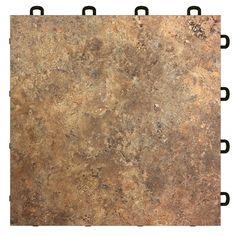 Interlocking Basement Floor Tiles - Clay Sandstone (flooring) 4.98 each