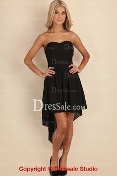 Fascinating Sweetheart Cocktail Dress with Asymmetrical Hemline