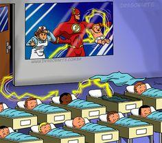 Eduardo Lucas Nascimento, known as Dragonarte, is a Brazilian comic artist. He draws Marvel and DC Comics universe in his own style Flash Marvel, Marvel Vs, Marvel Funny, Marvel Memes, Marvel Dc Comics, Superhero Memes, Superhero Kids, Flash Superhero, Bd Comics