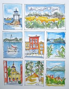 Sketchbook Wandering: A Maine Storyboard