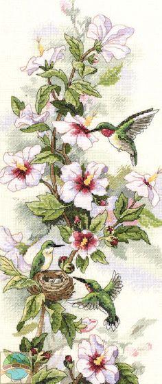 Sunset / Dimensions - Hummingbird Art - Cross Stitch World