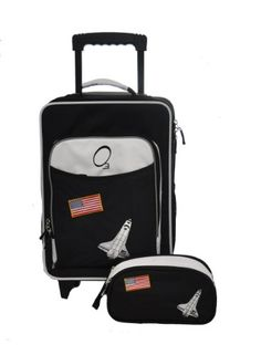 Obersee Kids Luggage and Toiletry Bag Set, Space  - Click image twice for more info - See a larger selection of kids lunch bag at http://kidsbackpackstore.com/product-category/kids-lunch-bag/ -kids,child,children,toddler,kids bag ,gift ideas, holidays,chirtsmas ,outdoor,travel