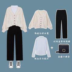 Korean Girl Fashion, Korean Street Fashion, Ulzzang Fashion, Korea Fashion, Korean Outfit Street Styles, Korean Outfits, Kpop Fashion Outfits, Ootd Fashion, Looks Vintage