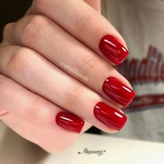 The work of the master St. Red Gel Nails, Nail Polish Colors, Manicure And Pedicure, Acrylic Nails, Perfect Nails, Gorgeous Nails, Cute Nails, Pretty Nails, Stylish Nails