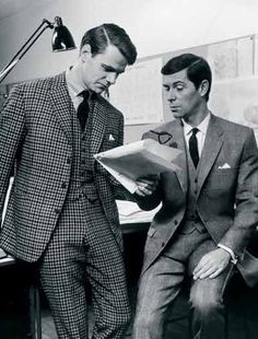 Three-piece checked suit by Hector Powe, 1964. Photograph courtesy of Woolmark Archive & London College of Fashion.