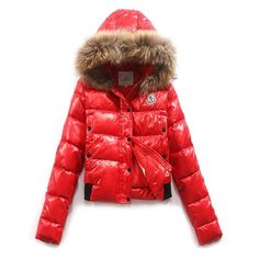 France Moncler Alpine Red Jacket Women Free Shipping