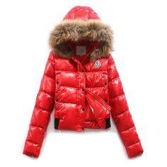 France Moncler Alpine Red Jacket Women Free Shipping