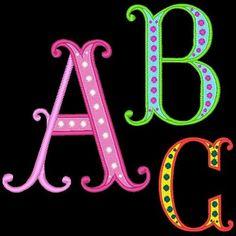 VEGAS ---104 Machine Embroidery Font Pack (AzEB). $9.99, via Etsy.