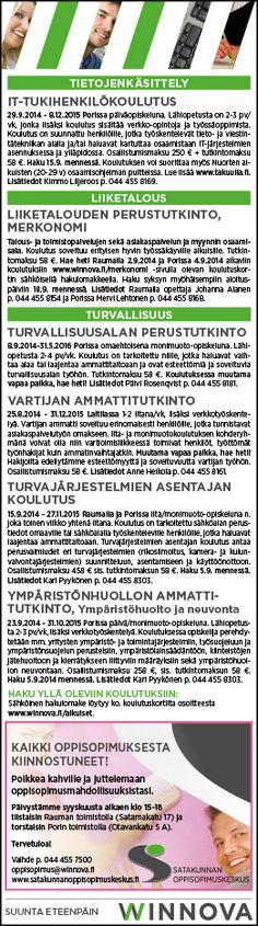 Lehti-ilmoitus, WinNova