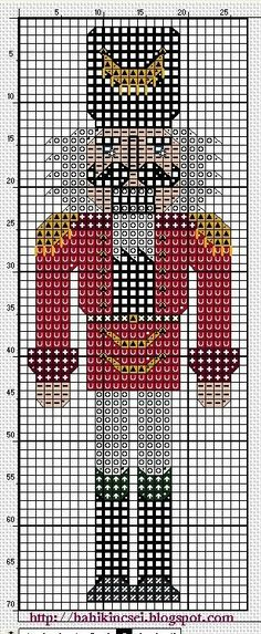 the nutcracker - sewing/ cross-stitch project Cross Stitch Bookmarks, Cross Stitch Love, Beaded Cross Stitch, Crochet Cross, Cross Stitch Charts, Cross Stitch Designs, Cross Stitch Embroidery, Cross Stitch Patterns, Loom Patterns