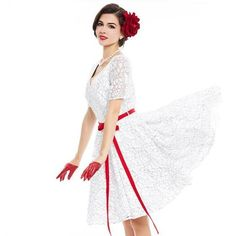 vintage dresses white lace printing sexy summer belt short sleeves
