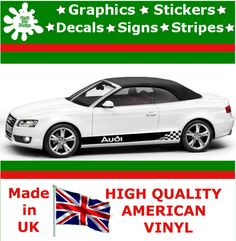 Audi Stripes Car Sticker Large Set Kit Vinyl Graphics Decal Racing Auto Decal 1