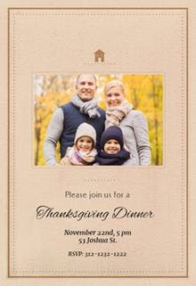 thanksgiving classic invitation thanksgiving invitation template