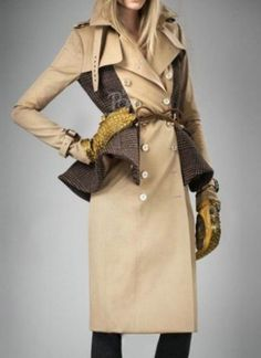 #SheInside Khaki Lapel Long Sleeve Epaulet Ruffles Trench Coat - Sheinside.com