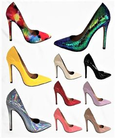 2d76178438d Angie-8 Women Pointed Pointy Toe Stiletto High Heel Slip On Pumps