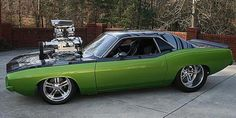 Modified 1971 Plymouth Barracuda. Think i need a bigger blower.