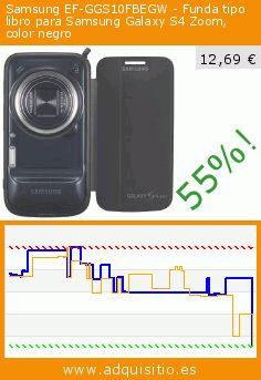 Samsung EF-GGS10FBEGW - Funda tipo libro para Samsung Galaxy S4 Zoom, color negro (Accesorio teléfono inalámbrico). Baja 55%! Precio actual 12,69 €, el precio anterior fue de 28,00 €. https://www.adquisitio.es/samsung/ef-ggs10fbegw-funda-tipo