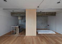 jamesrobertsonirvine:  FrontOfficeTokyo strips back small Tokyo apartment by pulling down walls