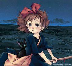 Kiki Delivery, Kiki's Delivery Service, Howls Moving Castle, My Neighbor Totoro, Miyazaki, Studio Ghibli, Anime, Movies, Films