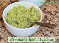 Homemade Basil Hummus
