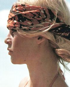 the slow and the sun Brigitte Bardot, Bridget Bardot, Turban, Animal Activist, Gorgeous Hair, Beautiful, Boho Look, Just Amazing, Scarf Styles