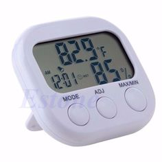 1pc For Indoor LCD Digital Hygrometer Humidity Thermometer Temperature Meter Gauge Clock