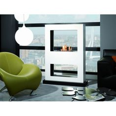 Ruby Fires Lasize met bio-brander in het wit Decor, Living Room, Furniture, Living Area, Interior, Metal Sheet, Interior Architecture, Home Decor, Modern Fireplace
